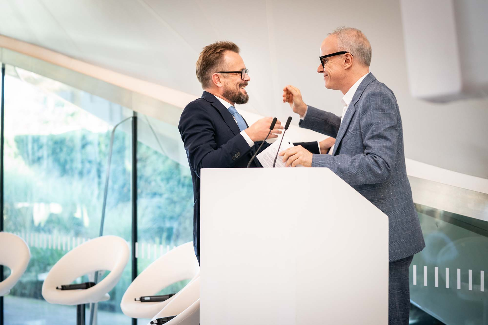 Mikolaj Sekutowicz, Curator of Therme Art and Hans Ulrich Obrist, Artistic Director of Serpentine Galleries