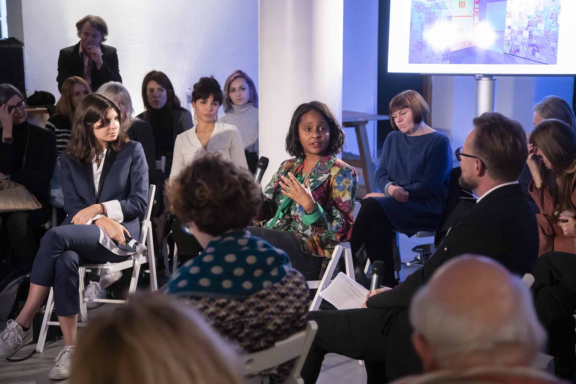 Zoé Whitley during The Right to Refuse Therme Forum at British Pavilion during the 2019 Venice Biennale