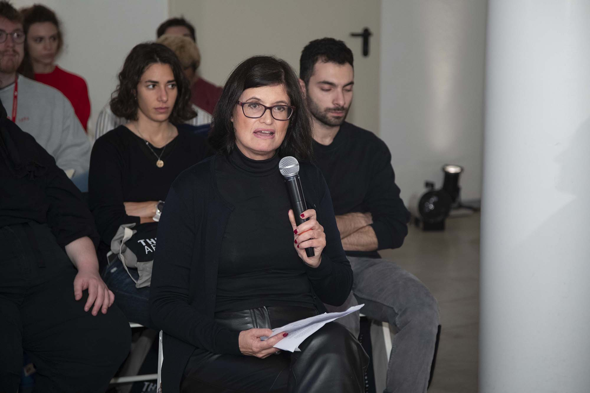 Emma Dexter during The Right to Refuse Therme Forum at British Pavilion during the 2019 Venice Biennale