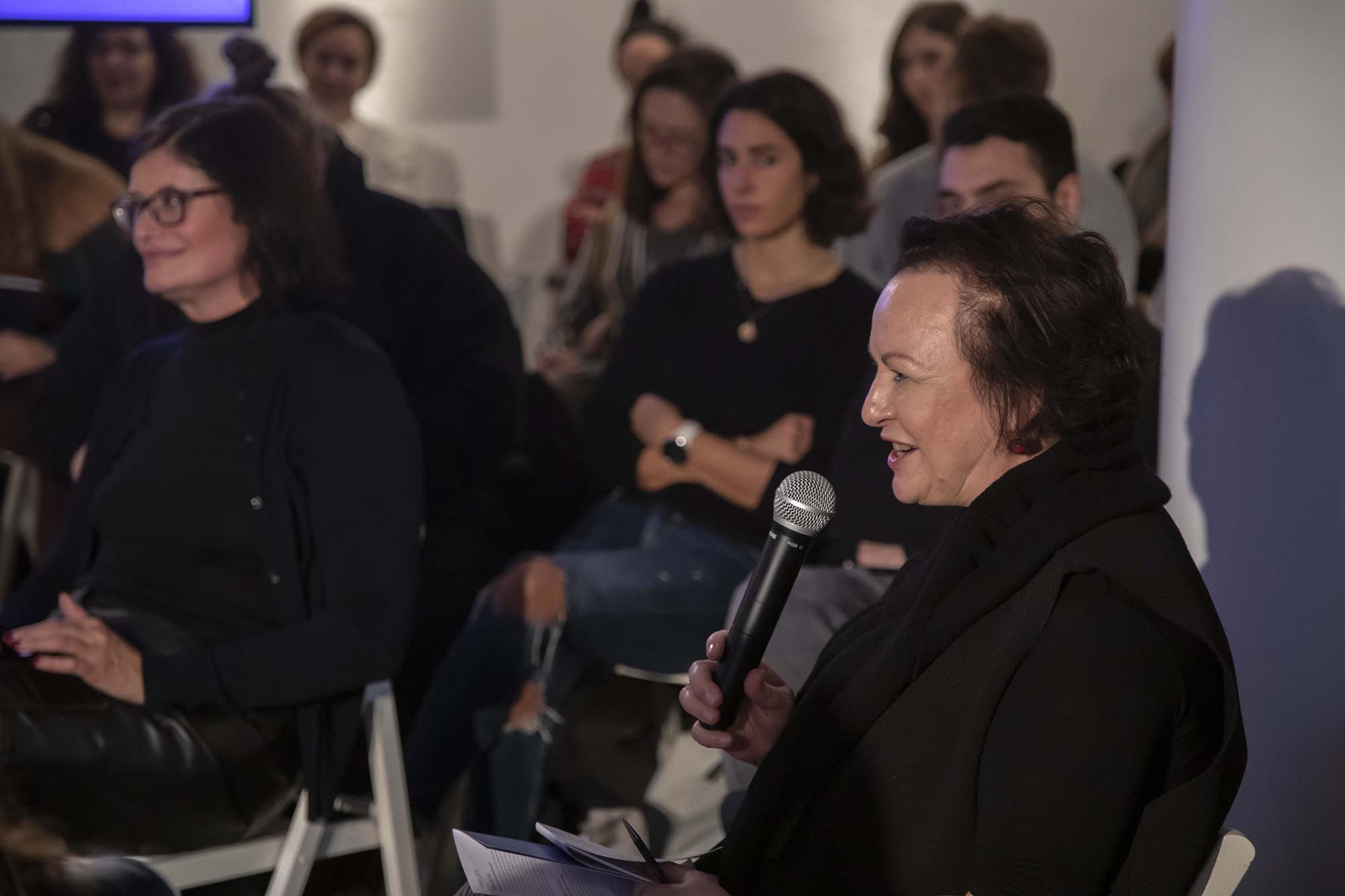 Sarah Wilson during The Right to Refuse Therme Forum at British Pavilion during the 2019 Venice Biennale