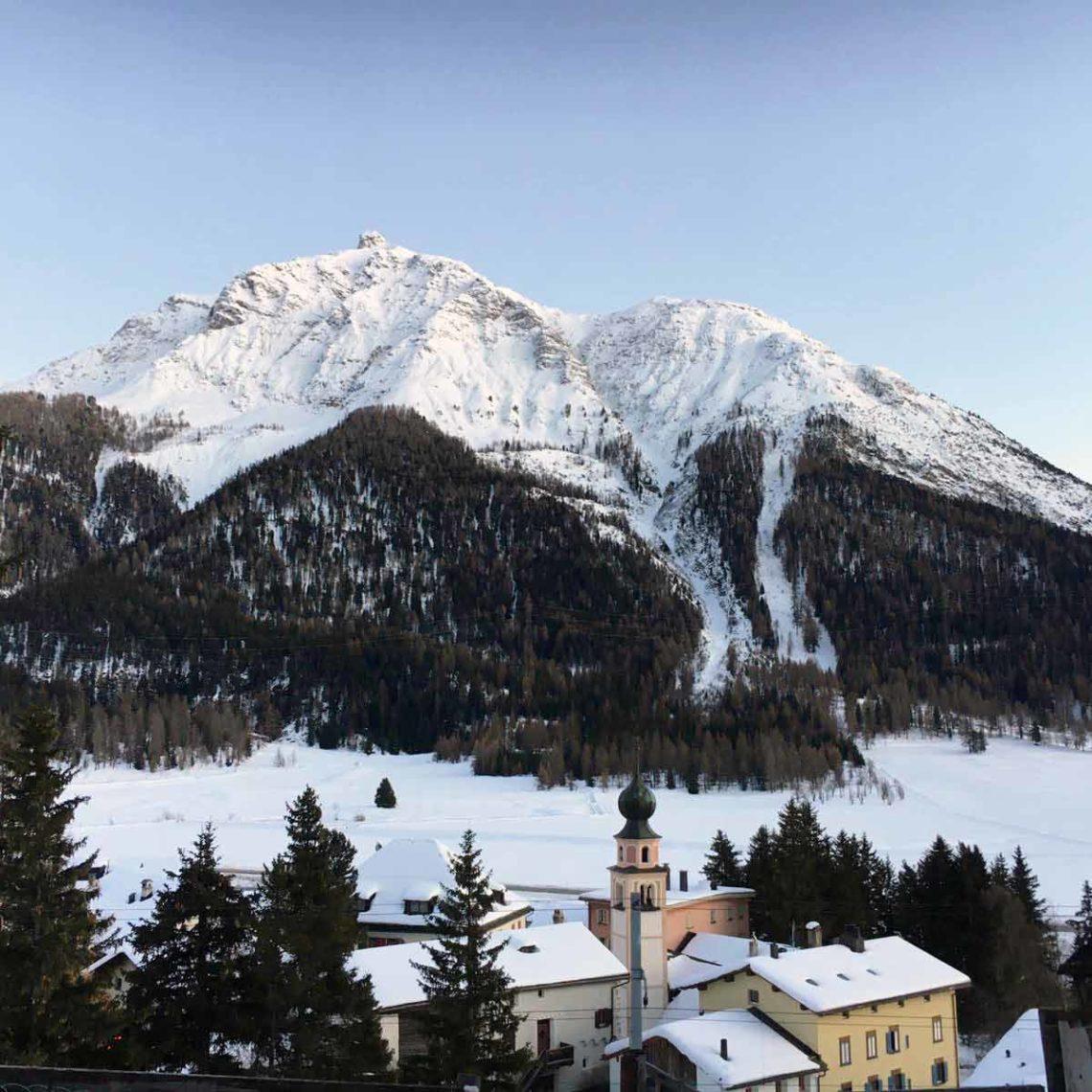 The Swiss Alps in Engadin, Switzerland