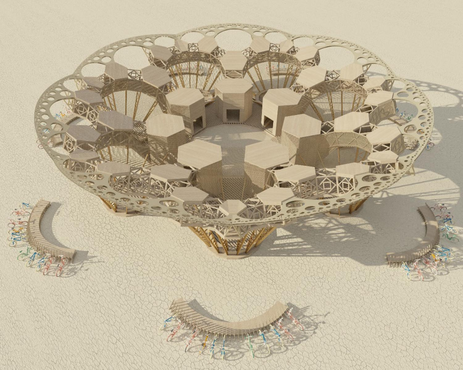 Rendering of Catharsis by Architect Arthur Mamou-Mani
